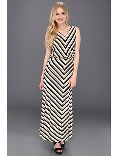 SALE! $79.99 - Save $54 on Calvin Klein Rayon Sleeveless Blouson Maxi Dress (Bone Black) Apparel - 40.31% OFF $134.00