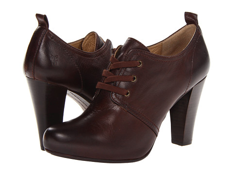 Frye - Marissa Oxford (Dark Brown Soft Vintage Leather) High Heels