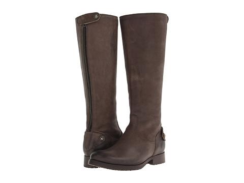 Frye - Melissa Lug Back Zip Tall (Grey Pressed Nubuck) Cowboy Boots