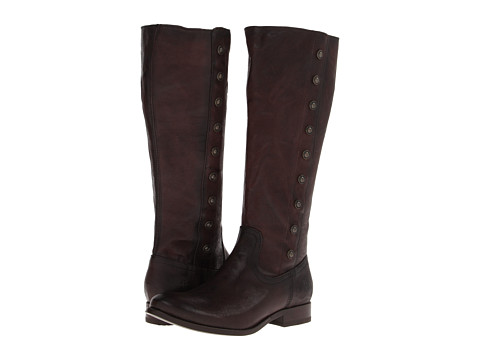 Frye - Melissa Military Tall (Dark Brown Antique Soft Vintage) Cowboy Boots