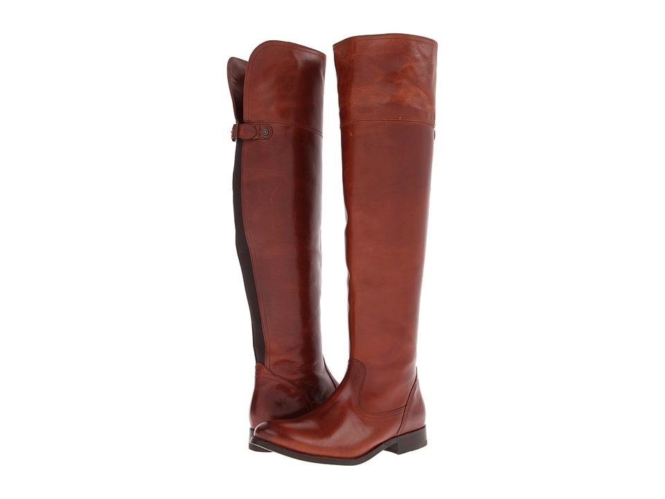 Frye Melissa OTK (Cognac Soft Vintage Leather) Cowboy Boots