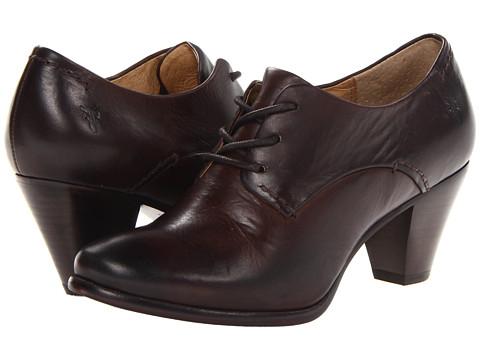 Frye - Phoebe Oxford (Dark Brown Soft Vintage Leather) Women's Lace up casual Shoes