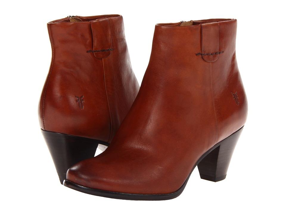 Frye - Phoebe Bootie (Cognac Soft Vintage Leather) Cowboy Boots