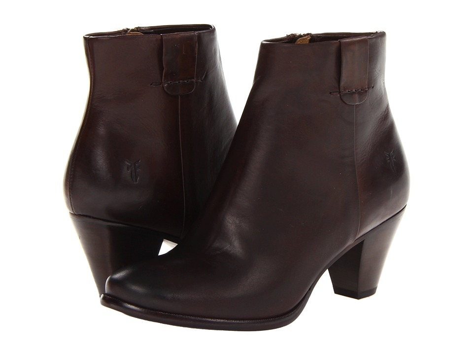 Frye Phoebe Bootie (Dark Brown Soft Vintage Leather) Cowboy Boots