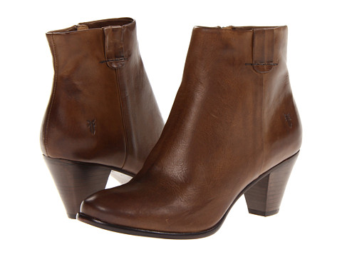 Frye - Phoebe Bootie (Grey Soft Vintage Leather) Cowboy Boots