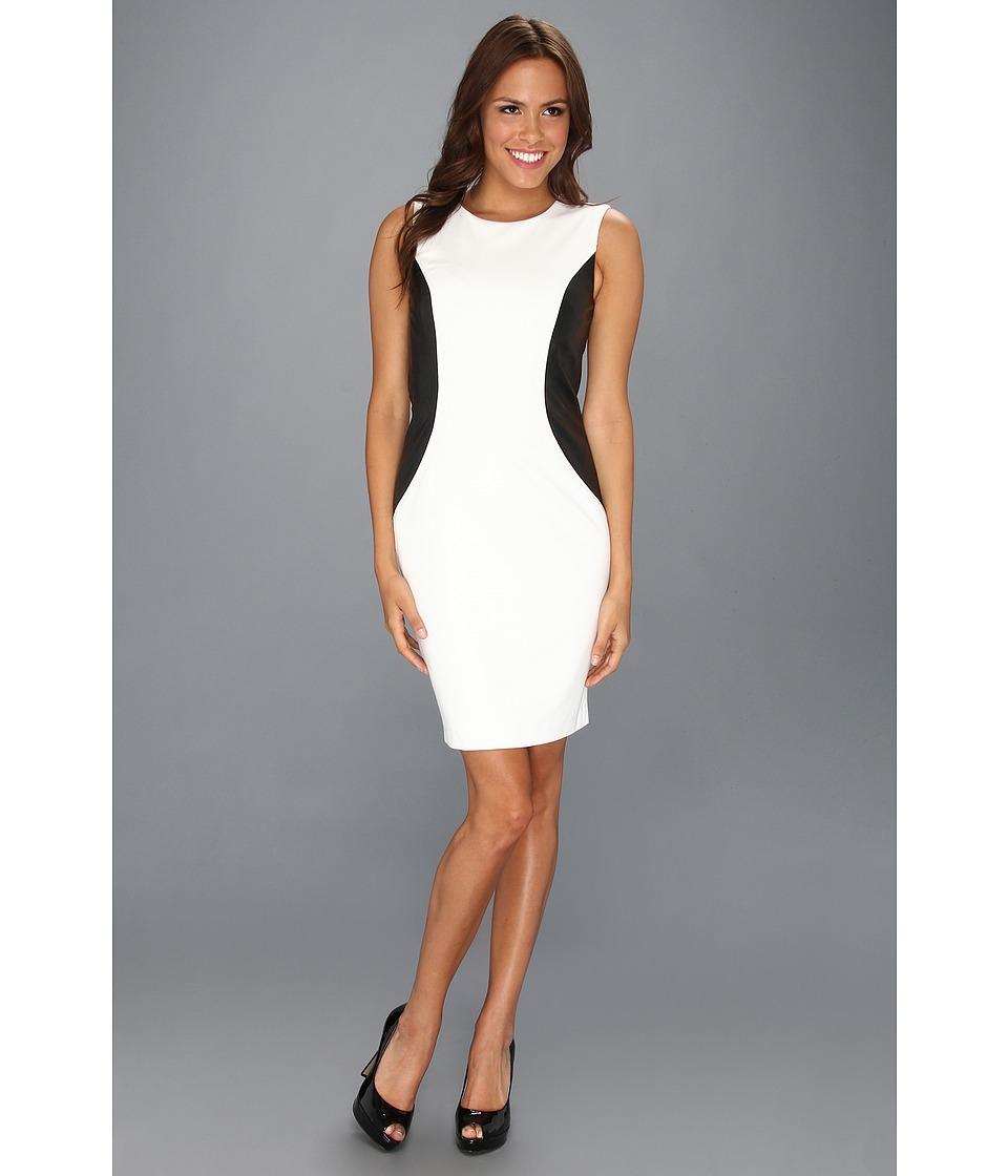 Calvin Klein Ponte Sleeveless Sheath Dress Womens Dress (Multi)