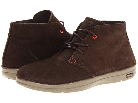 Crocs - Thompson Desert Boot (Espresso/Khaki) Men's Boots