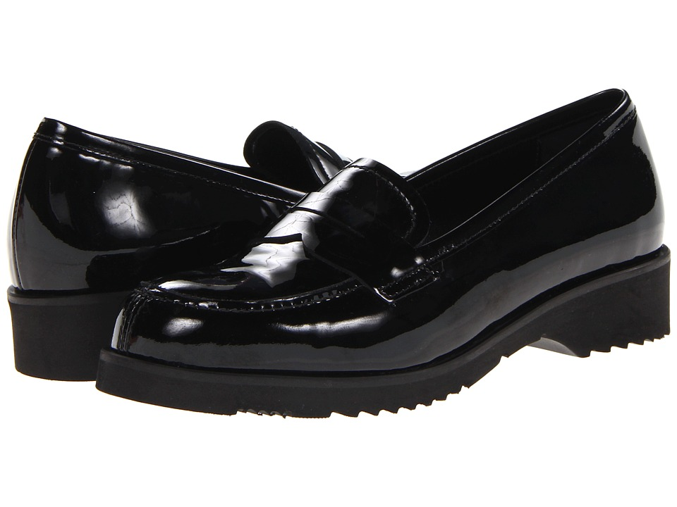 La Canadienne - Halle (Black Vernice) Women's Slip on Shoes