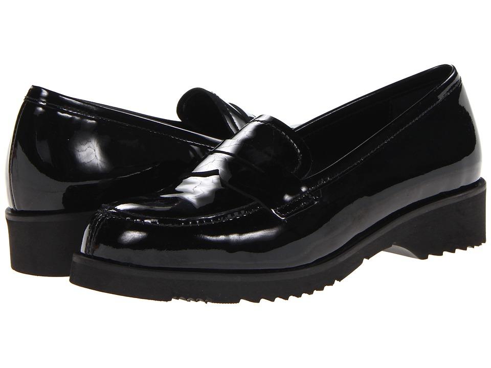 La Canadienne - Halle (Black Vernice) Women's Slip on Shoes