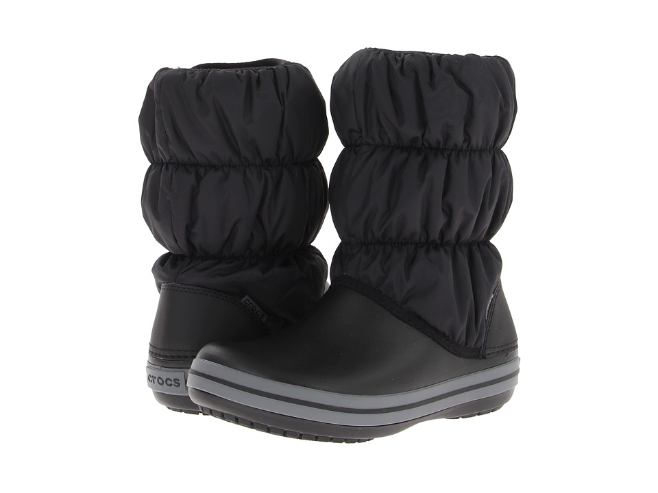 Crocs - Winter Puff Boot (Black/Charcoal) Women