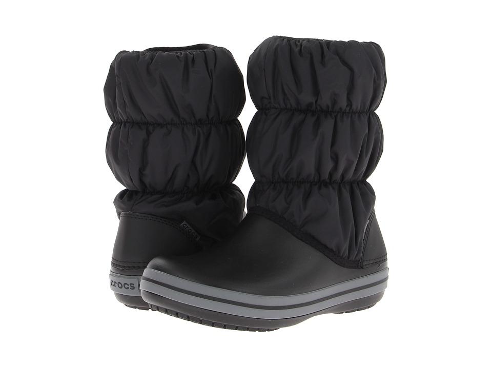 Crocs - Winter Puff Boot (Black/Charcoal) Women's Boots