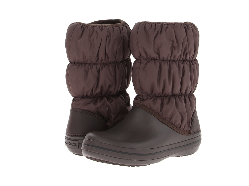 Crocs - Winter Puff Boot (Espresso/Espresso) Women's Boots