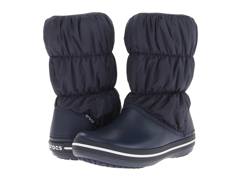 Crocs Winter Puff Boot (Navy/Navy) Women