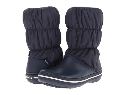 Crocs - Winter Puff Boot (Navy/Navy) Women's Boots