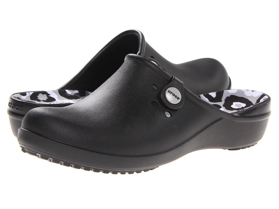 Crocs - Tully II Clog (Black/Light Grey) Women