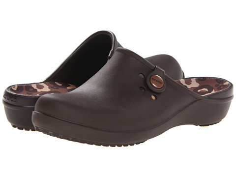 Crocs - Tully II Clog (Espresso/Blue) Women's Clog Shoes