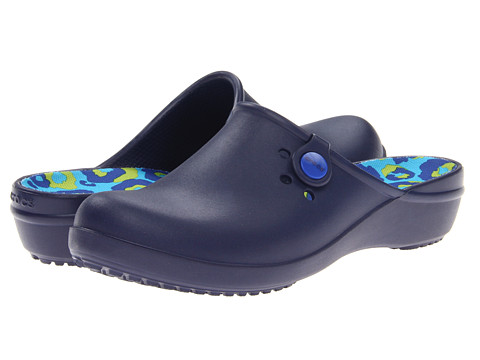 Crocs - Tully II Clog (Nautical Navy/Cerulean Blue) Women's Clog Shoes