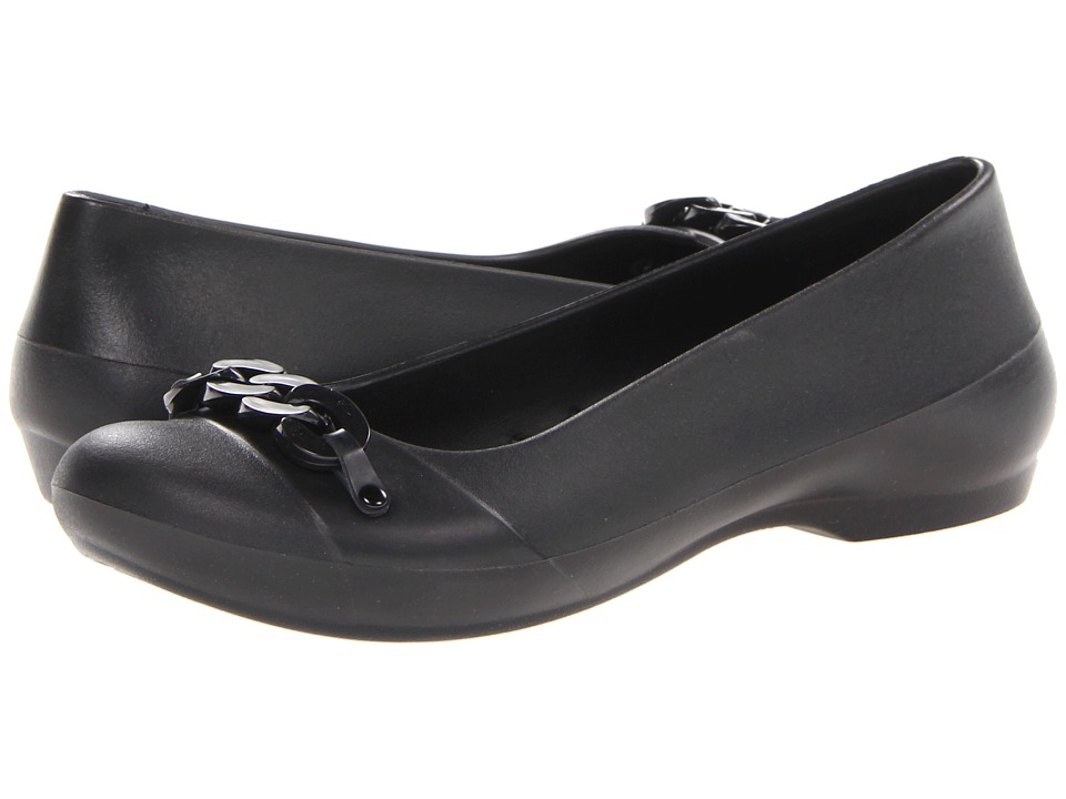 Crocs - Gianna Link (Black/Black) Women's Flat Shoes