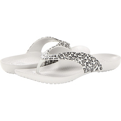 SALE! $16.1 - Save $4 on Crocs Kadee Leopard Print Flip Flop (Black Pearl White) Footwear - 19.50% OFF $20.00