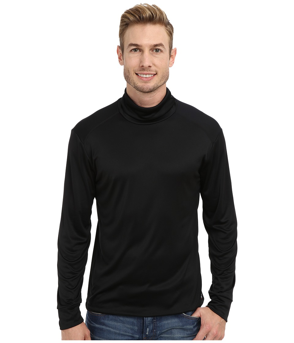 Hot Chillys Peach Solid Roll T-Neck (Black) Men's Long Sleeve Pullover