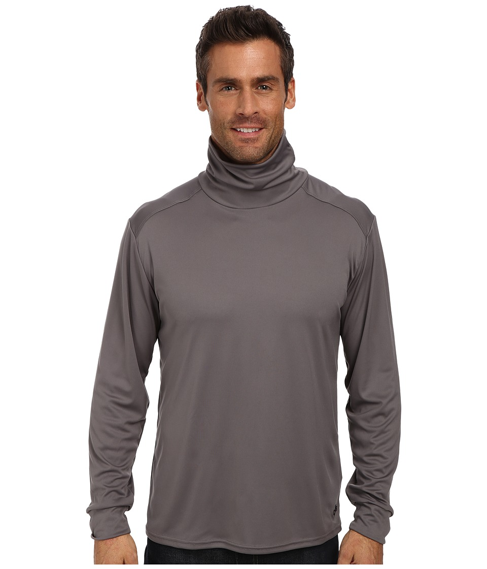 Hot Chillys Peach Solid Roll T-Neck (Charcoal) Men's Long Sleeve Pullover