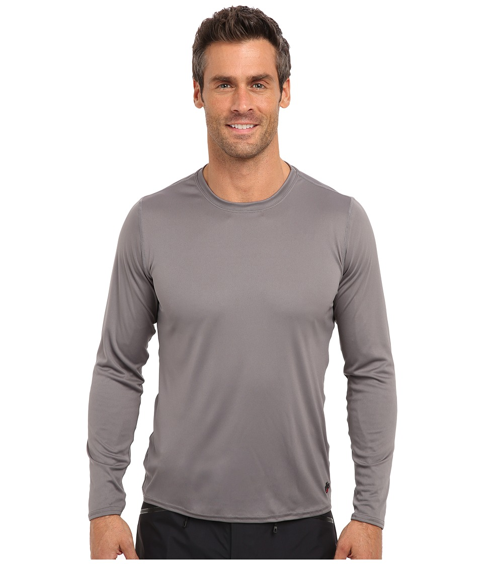 Hot Chillys Peach Solid Crewneck (Charcoal) Men's Long Sleeve Pullover