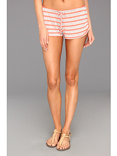 SALE! $13.5 - Save $32 on CA by Vitamin A Swimwear Breezy Short (Heather Stripe Coral) Apparel - 70.00% OFF $45.00