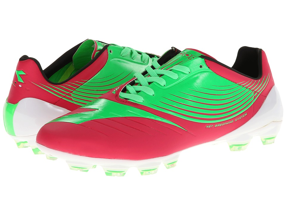 Diadora - DD-NA-GLX14 (Fluo Green/Red Virtual Pink) Men's Shoes