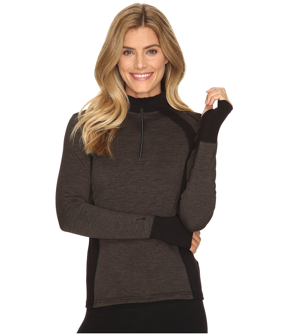 Hot Chillys - Wool 8k Zip (Black/Black) Women's Clothing