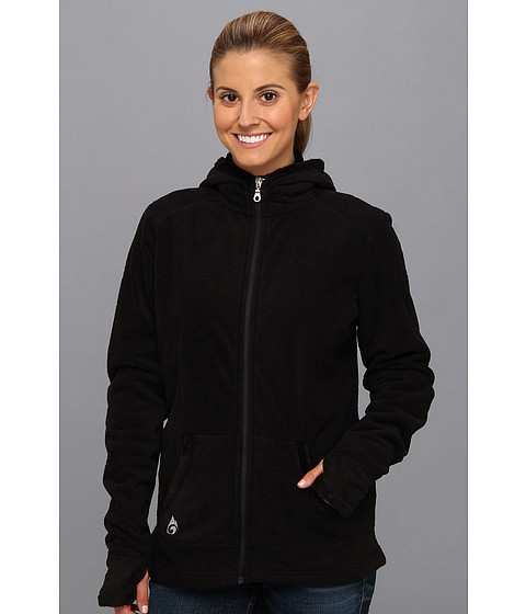 Hot Chillys - La Paz Salsa Zip Hoodie (Black) Women's Sweatshirt