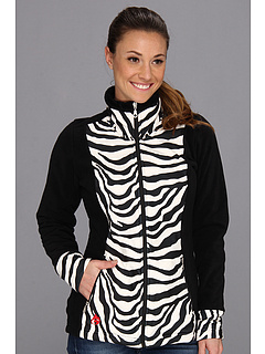 SALE! $44.99 - Save $45 on Hot Chillys Le Reina Printed Zip Jacket (Zebra Black) Apparel - 50.01% OFF $90.00
