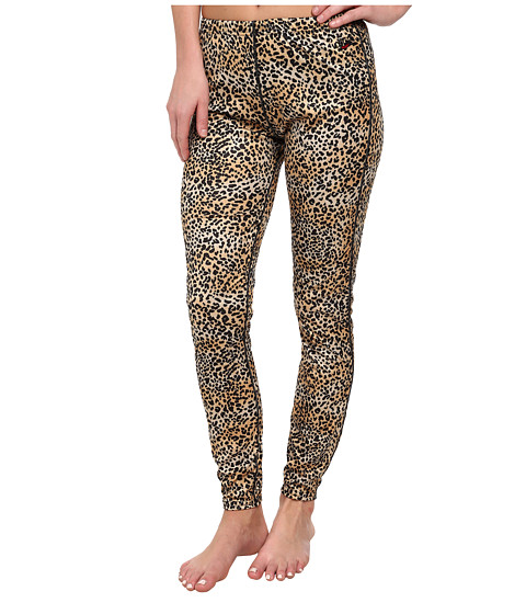 Hot Chillys - Peach Print Bottom (Cheetah) Women's Outerwear