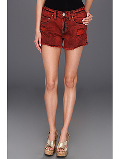 SALE! $44.99 - Save $33 on Free People Overdyed Denim Cutoff Short (Sunrise Red) Apparel - 42.32% OFF $78.00