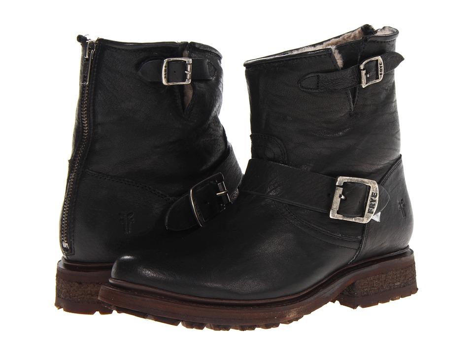 Frye Valerie 6 (Black Antique Soft Vintage/Shearling) Cowboy Boots