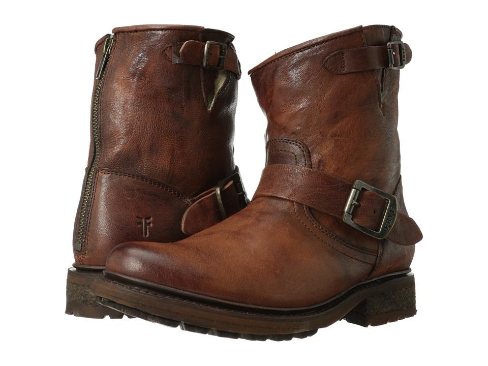 Frye Valerie 6 (Cognac Antique Soft Vintage/Shearling) Cowboy Boots