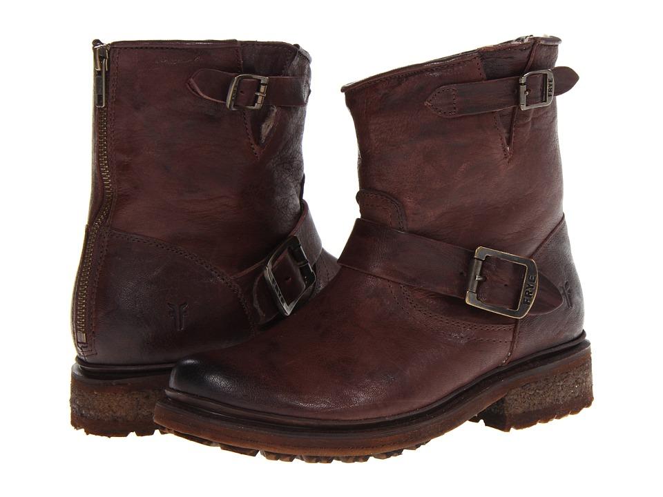 Frye Valerie 6 (Dark Brown Antique Soft Vintage/Shearling) Cowboy Boots