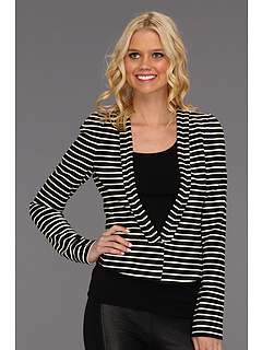 SALE! $91.99 - Save $136 on BCBGMAXAZRIA Hendrix Striped Ottoman Jacket (Black Combo) Apparel - 59.65% OFF $228.00