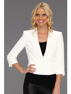 SALE! $164.99 - Save $133 on BCBGMAXAZRIA Natalia Cropped Jacket (White) Apparel - 44.63% OFF $298.00