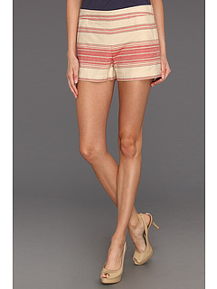 SALE! $56.99 - Save $81 on BCBGMAXAZRIA Renee Striped Casual Short (Red Multi) Apparel - 58.70% OFF $138.00
