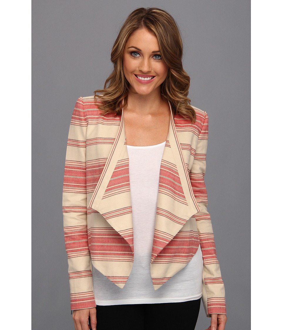 BCBGMAXAZRIA - Abbey Cropped Relaxed Jacket (Red Multi) Women