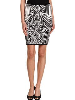 SALE! $56.99 - Save $133 on Nicole Miller After The Gold Rush Skirt (Black White) Apparel - 70.01% OFF $190.00