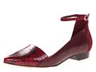10 Crosby Derek Lam - Avery (Burgundy Lizard Print) - Footwear
