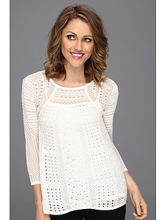 SALE! $81.99 - Save $96 on BCBGMAXAZRIA Kabele Pointelle Pullover (Gardenia) Apparel - 53.94% OFF $178.00