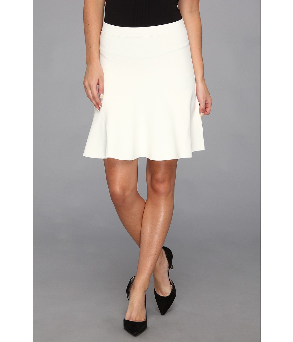 BCBGMAXAZRIA - Ingrid A-Line Skirt (Gardenia) Women