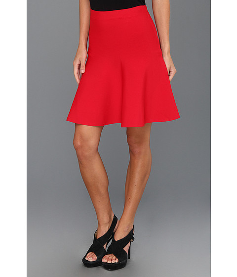 BCBGMAXAZRIA - Ingrid A-Line Skirt (Poppy) Women