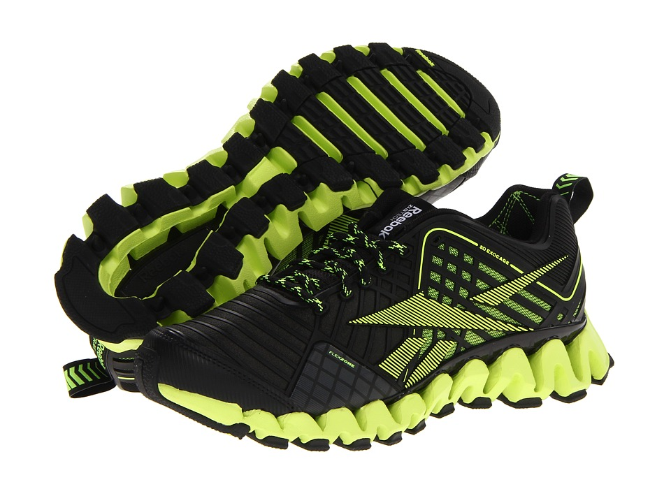 Reebok - ZigWild TR 3 (Black/Gravel/Neon Yellow) Men's Walking Shoes
