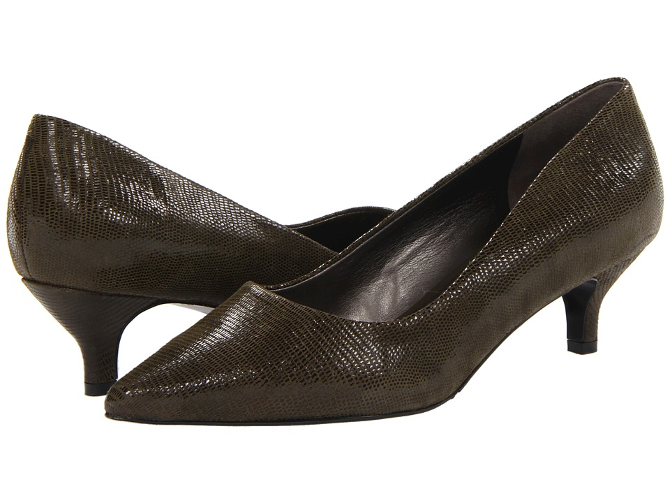 Trotters - Paulina (Loden Patent Suede Lizard Leather) Women's 1-2 inch heel Shoes