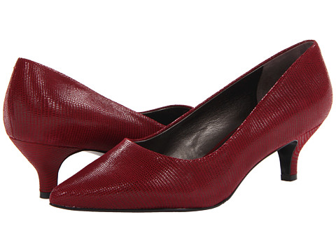 Trotters - Paulina (Dark Red Patent Suede Lizard Leather) Women's 1-2 inch heel Shoes