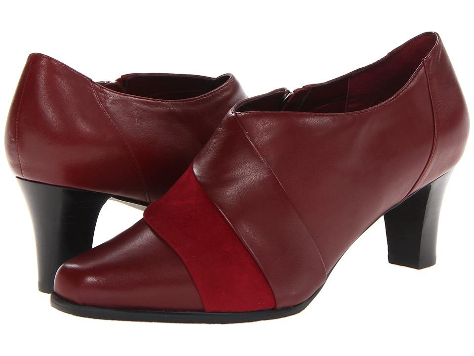Trotters - Jona (Dark Red Burnished Soft Kid) High Heels