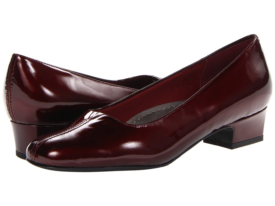 Trotters - Doris Pearl (Ruby Red Pearlized Patent Leather) Women